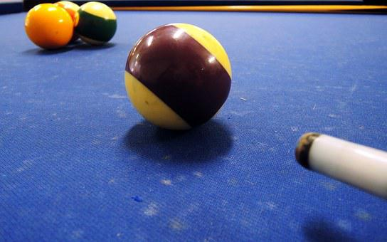 Billiards, Sphere, Blue, Purple, Four, Game, Bet, Money
