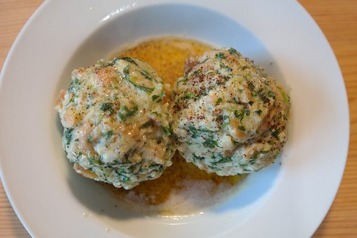 Spinach Dumplings, Dumpling, Butter Melting, Delicious