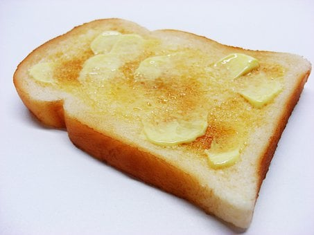 Buttered, Toast, Food, Bread, Margarine, Melting