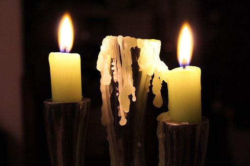 Candle, Flame, Wax, Nocturne, Warm, Green, Money