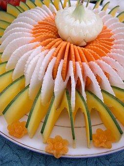 Spiral, Vegetable, Food, Decoration, Pumpkin, Carrot