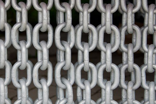 Chains, Chain Link, Steel, Metal, Members