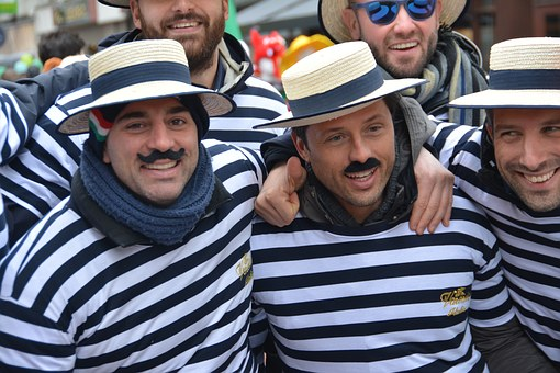 Men, Rugby, Straw Hats, Competition, Event, Clothing