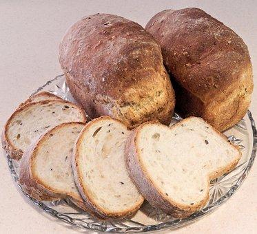 Bread, Sliced, Seeds, Corn, Flax, Butter, Food