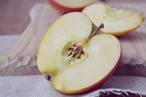 Apple, Bio Apple, Cut, Cut In Half, Halved Apples