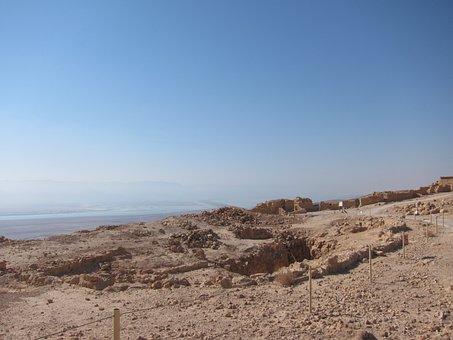 Dead Sea, Israel, Desert, Dead, Salt, Landscape