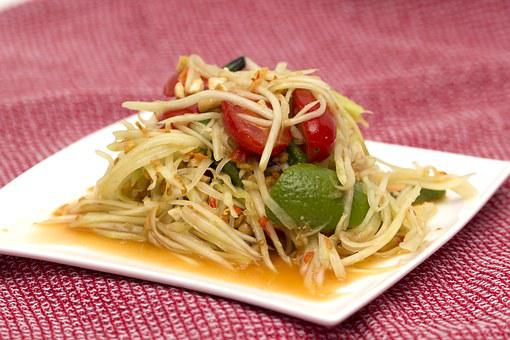 Papaya, Salad, Thai, Food, Asian, Vegetarian, Delicious