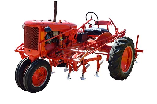 Red Tractor, Vintage, Antique, Restored, Retro, Farm