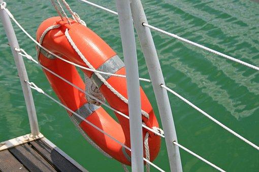 Life Saver Ring, Ring, Float, Device, Rescue, Orange