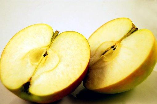 Apple, Fruit, Halved, Half, Sliced, Fruits, Ripe
