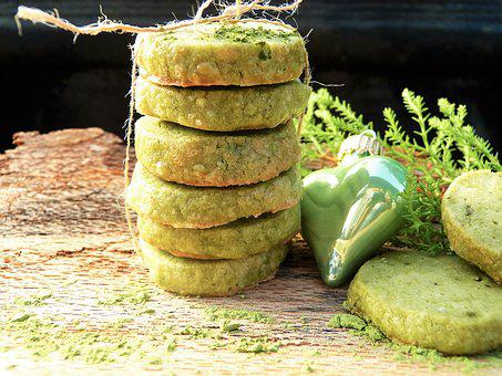 Green, Cookie, Green Tea, Matcha, Advent, Christmas