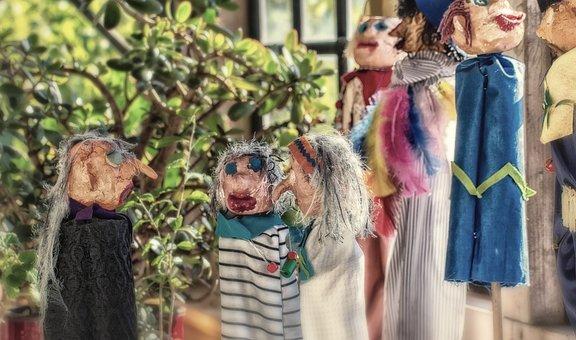 Wood Dolls, Puppet Show, Dolls, Network, Social, Group