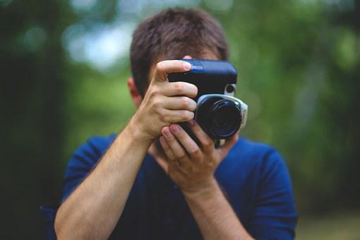 Man, Guy, Boy, Taking, Image, Picture, Camera, Holding