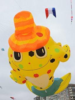 Kites, Happening, Sea, Air Ballon, Festival