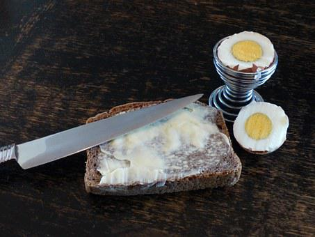 Bread And Butter, Egg, Knife, Bread, Eat, Free, Cheap