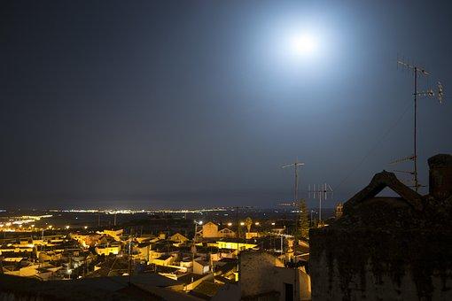 Night, City, Buildings, Light, City At Night, Lights