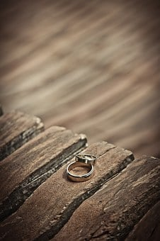 Wedding Rings, Gold, Wedding, Love, Marriage