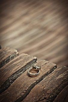 Wedding Rings, Gold, Wedding, Love, Marriage