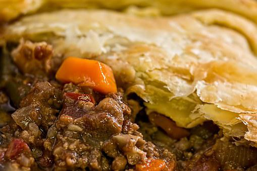 Meat Pie, Pie, Puff Pastry, Warm Meal, Baked, Golden