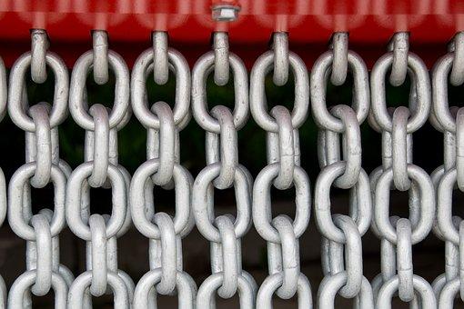 Chains, Chain Link, Steel, Metal, Members