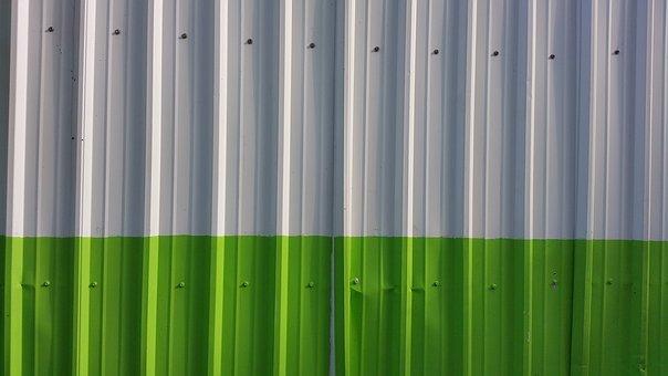Background, Metal, Green, Fence, Panels, Metallic, Wall