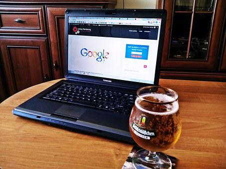 Laptop, Computer, Marketing, Google, Beer, Mouse