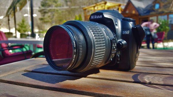 Nikon, Camera, Nature, Flower, Nice, White, Black