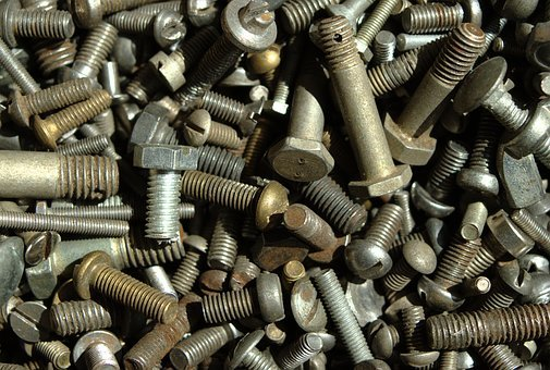 Old, Screw, A Lot, Building, The Background, Metal
