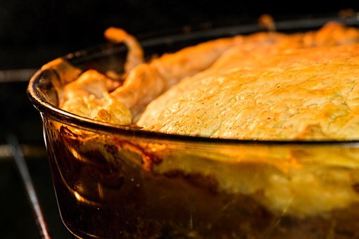 Pie, Meat Pie, Puff Pastry, Warm Meal, Baked, Oven