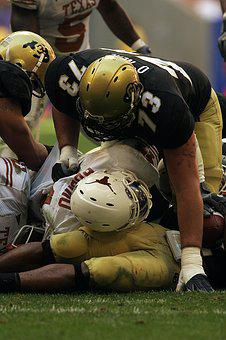 Football, Pile Up, Action, Downed, Sport, Game