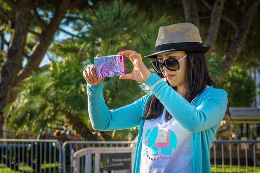 Selfie, Smartphone, Self, Phone, Portrait, Young, Girl