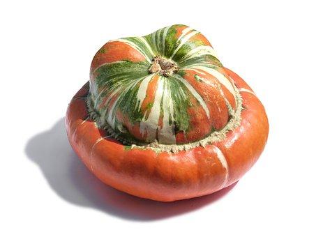 Pumpkin, Turban Squash, White Background, Rustic Decor