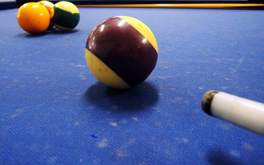 Billiards, Sphere, Blue, Purple, Four, Game, Bet, Money