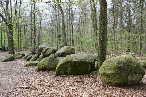 Stone Grave, Sloopsteine, Grave, Stones, Granite, Rock