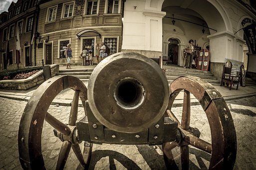 Cannon, Has Happened, Sandomierz, Poland, The Old Town