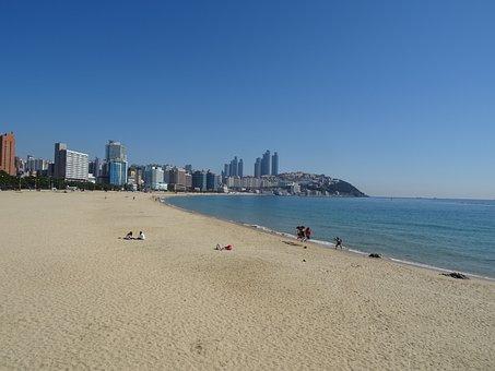 Haeundae Beach, Bathing Beach, Busan, Sea