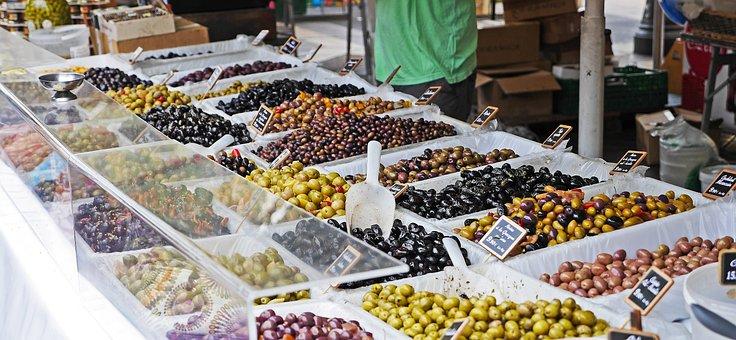 Olives, Nice, Flower Market, Market Stall, Selection