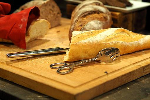 Bread, Cut, That Cut, Chopping Board, Self Service