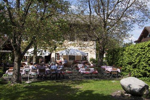 Beer Garden, Beer Cellar, Serving, By Beer, Tavern