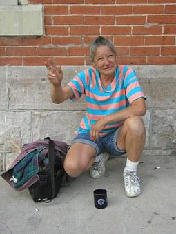 Homeless, Woman, Poverty, Social Justice, Food, Shelter