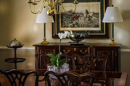 Dining Room, Dining Table, Chippendale Chair, Sideboard