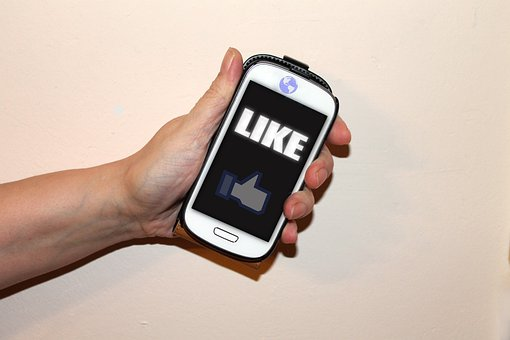 Mobile Phone, Socialmedia, Facebook, Like, Thumb