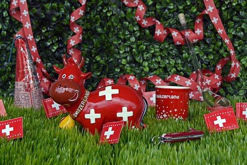 National Day, Switzerland, Celebrate, Souvenirs, Flag