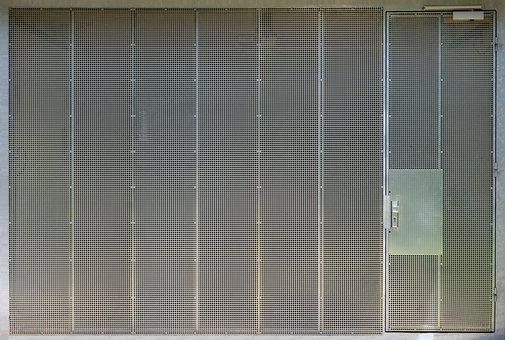Garage Door, Steel Grid, Texture, Template, Material