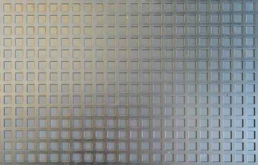 Zinc Sheet, Steel Grid, Texture, Template, Material