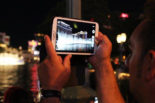 Tablet, Las Vegas, Usa, Bellagio, Nevada