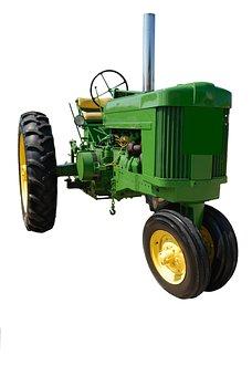 Vintage, Old, Retro, Restored, Green, Tractor