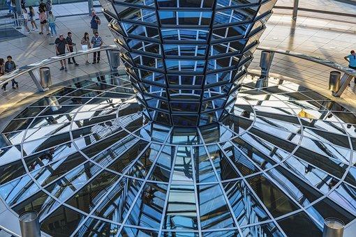 Berlin, Bundestag, Mirror, Reichstag, Building