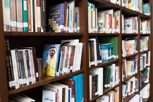 Arabic, Books, Bookshelf, Library, Education