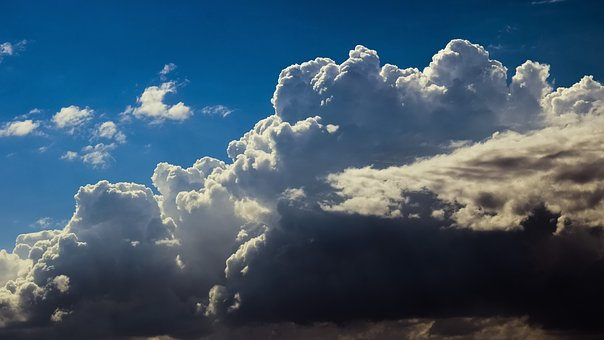 Clouds, White, Grey, Cumulus, Sky, Nature, Cloudscape
